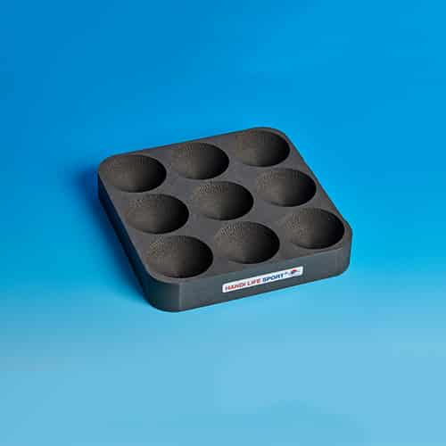 Boccia foam tray for 9 balls