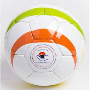 Rainbow Football Ball for the blind