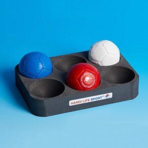 Boccia foam tray for 6 balls