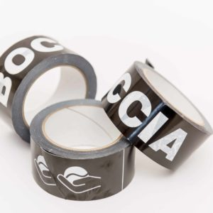 A roll Boccia tape, black/white, 48 mm