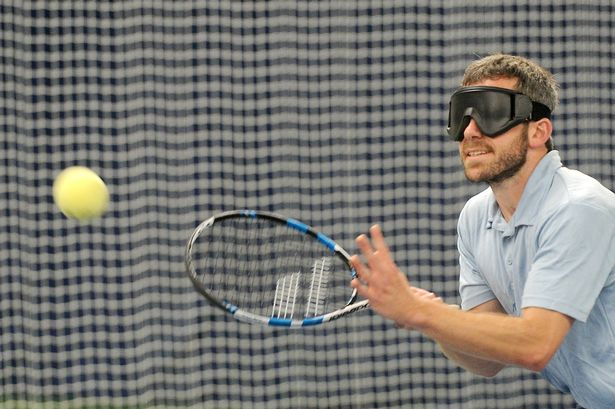 blind tennis