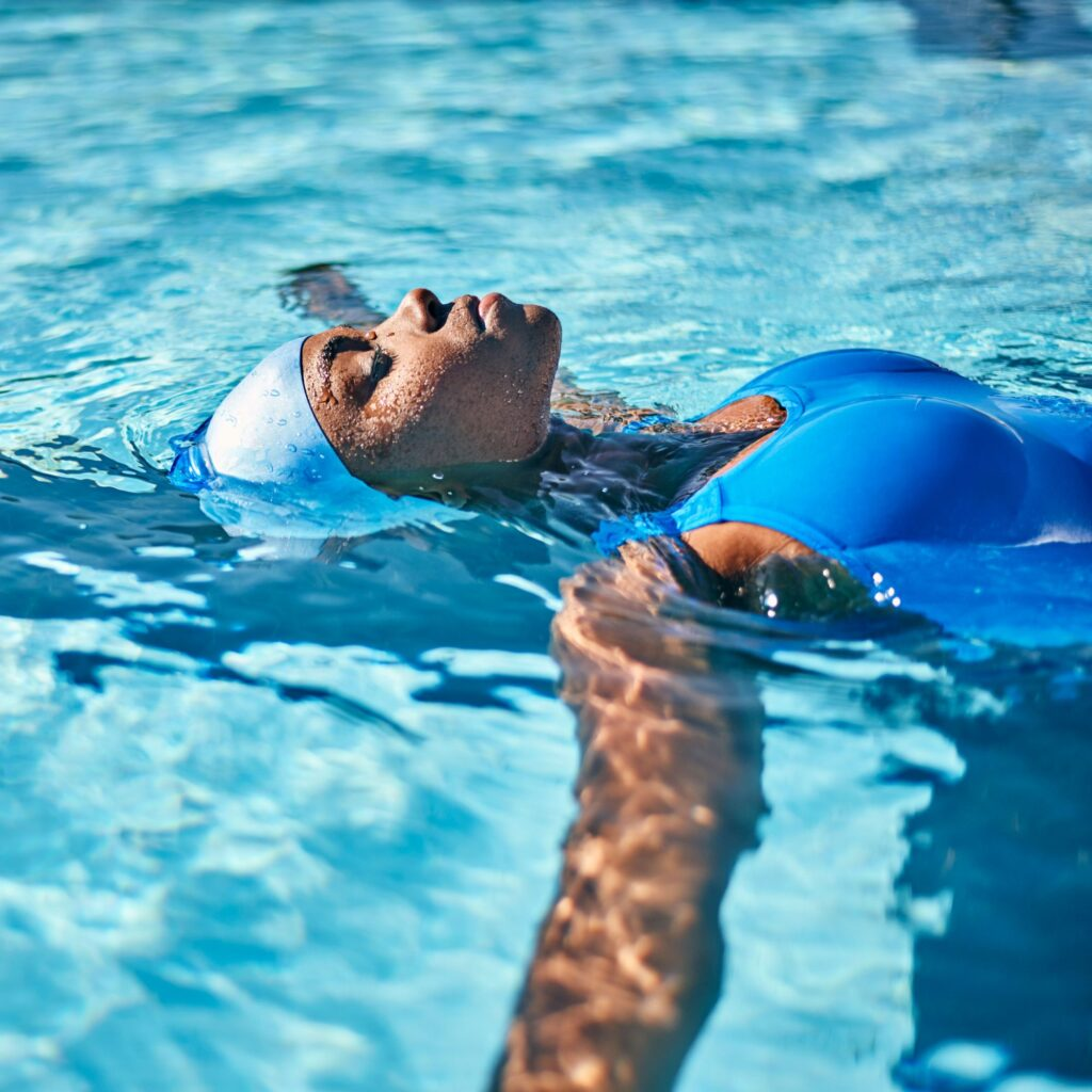 swimming - relaxing