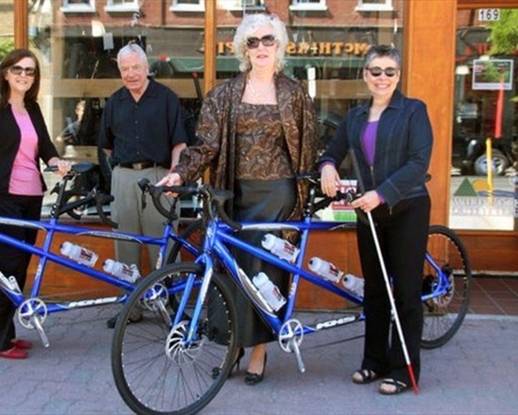 tandem bikes and vision imapriment